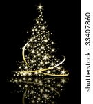 christmas tree | Shutterstock .eps vector #33407860