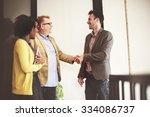 business people meeting...   Shutterstock . vector #334086737