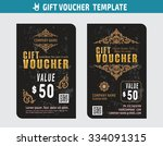 gift voucher certificate coupon ... | Shutterstock .eps vector #334091315