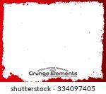 grunge frame   abstract texture.... | Shutterstock .eps vector #334097405
