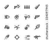 simple set of weapon related... | Shutterstock .eps vector #334097945