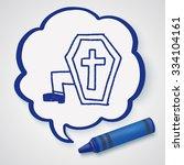 grave doodle drawing   Shutterstock .eps vector #334104161