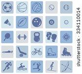 vector set of sport icons | Shutterstock .eps vector #334110014