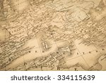 antique map of the world  the... | Shutterstock . vector #334115639