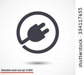 plug in. vector icon 10 eps