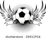 Isolated Soccer Emblem  Vector...