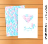 lovely vector cards  emblem ... | Shutterstock .eps vector #334120031