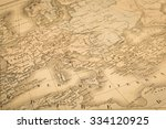 antique map of the world  the... | Shutterstock . vector #334120925