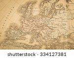 antique world map  europe | Shutterstock . vector #334127381