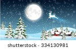 happy christmas background with ... | Shutterstock .eps vector #334130981