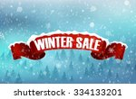 winter sale background with red ... | Shutterstock .eps vector #334133201