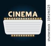 cinema marquee | Shutterstock .eps vector #334146125