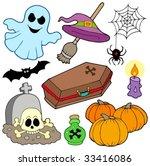 various halloween images 3  ... | Shutterstock .eps vector #33416086