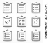 clipboard icons with check and... | Shutterstock .eps vector #334160924