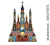 krakow szopka or nativity scene....   Shutterstock .eps vector #334173371