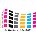 the colorful raster abstract... | Shutterstock . vector #33417499