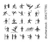 silhouettes figures of athletes ... | Shutterstock . vector #334177781