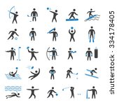 silhouettes figures of athletes ... | Shutterstock . vector #334178405