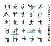 silhouettes figures of athletes ... | Shutterstock . vector #334180997