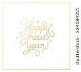 happy new year   greeting card... | Shutterstock .eps vector #334184225