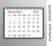 december 2015 spiral calendar... | Shutterstock .eps vector #334185299