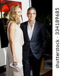 george clooney and stacy... | Shutterstock . vector #334189685
