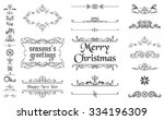 christmas decorative elements | Shutterstock .eps vector #334196309