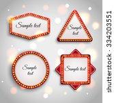 shining retro light banner.... | Shutterstock .eps vector #334203551