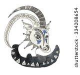 the capricorn sign horoscope... | Shutterstock . vector #334208654