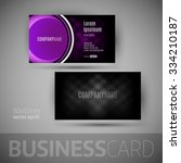 business card with big button.... | Shutterstock .eps vector #334210187