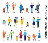families with children ... | Shutterstock .eps vector #334212761