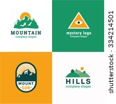 mountain hills idea logo vector ... | Shutterstock .eps vector #334214501