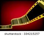 vector film strip 3d  gold  | Shutterstock .eps vector #334215257