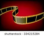 vector film strip 3d  gold  | Shutterstock .eps vector #334215284