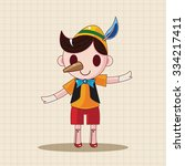 pinocchio theme elements | Shutterstock .eps vector #334217411