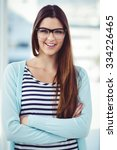 young creative worker smiling... | Shutterstock . vector #334226465