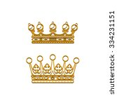 vector silhouette royal crown... | Shutterstock .eps vector #334231151
