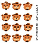 bear emoticons | Shutterstock .eps vector #334233275