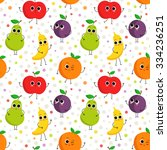 cute vector seamless pattern... | Shutterstock .eps vector #334236251