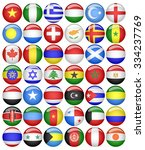 world flags collection | Shutterstock .eps vector #334237769