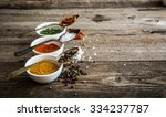 different colorful spicec in... | Shutterstock . vector #334237787