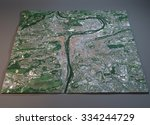 prague map  satellite view ... | Shutterstock . vector #334244729