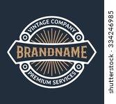 luxury logo template. vintage... | Shutterstock .eps vector #334246985