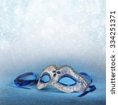 Blue Female Carnival Mask And...