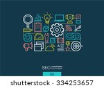 seo integrated thin line... | Shutterstock .eps vector #334253657