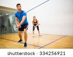 Couple Play Some Squash...