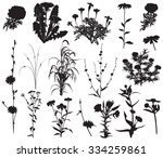 collection of silhouettes of... | Shutterstock .eps vector #334259861