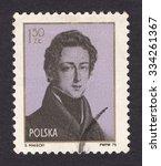 poland   circa 1975  a stamp... | Shutterstock . vector #334261367