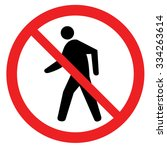 no walking traffic sign.... | Shutterstock .eps vector #334263614