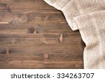 gray handmade tablecloth from... | Shutterstock . vector #334263707